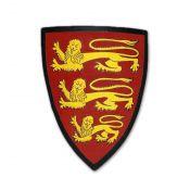 Щит с гербом английского королевства XIII - первой половины XIV веков.