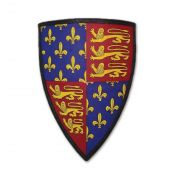Щит с гербом английского королевства 1340 - 1406 гг.
