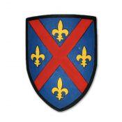 Щит рыцарский с крестом и лилиями. Западная Европа XIV в.