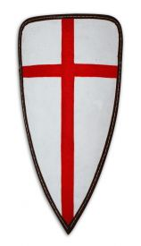 Щит треугольный большой с кожаным кантом