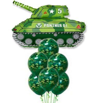 """Композиция из воздушных шаров """"Танк"""""""