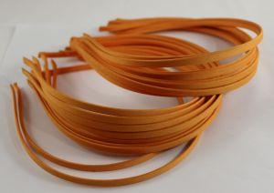 Ободок металл обтянутый тканью 5 мм, цвет: оранжевый (1уп = 12шт)