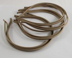 `Ободок металл обтянутый тканью 5 мм, цвет: бежевый, Арт. Р-ОБ0050