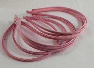 `Ободок металл обтянутый тканью 5 мм, цвет: светло-розовый