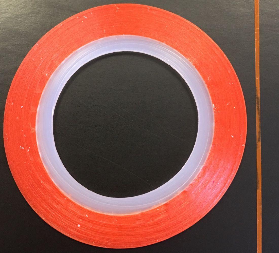 Наклейка-лента для дизайна ногтей в рулоне (0.8мм) матовая (оранжевая)