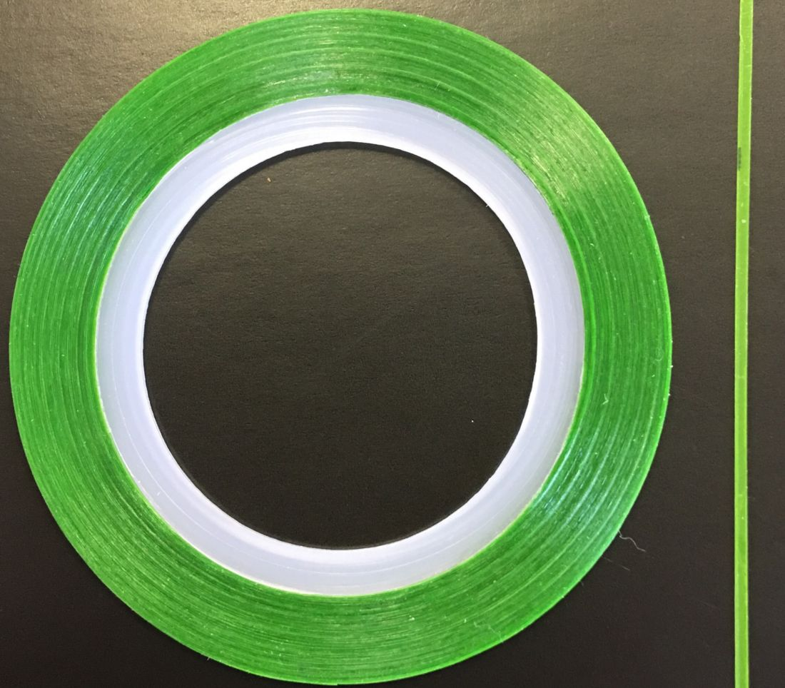 Наклейка-лента для дизайна ногтей в рулоне (0.8мм) матовая (зеленая)