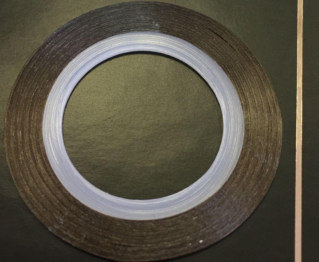Наклейка-лента для дизайна ногтей в рулоне (0.8мм) глянцевая (кремовый)