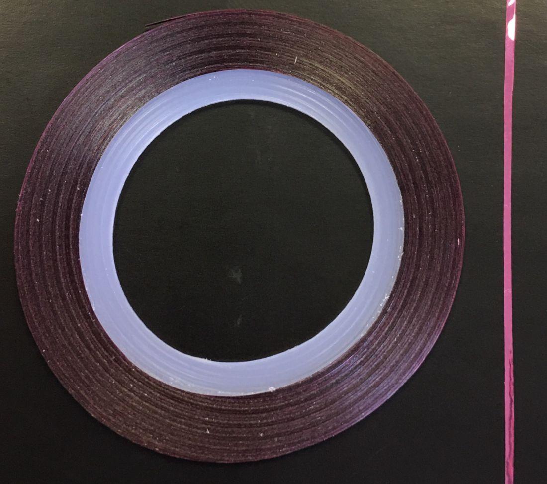 Наклейка-лента для дизайна ногтей в рулоне (0.8мм) глянцевая (лиловый)