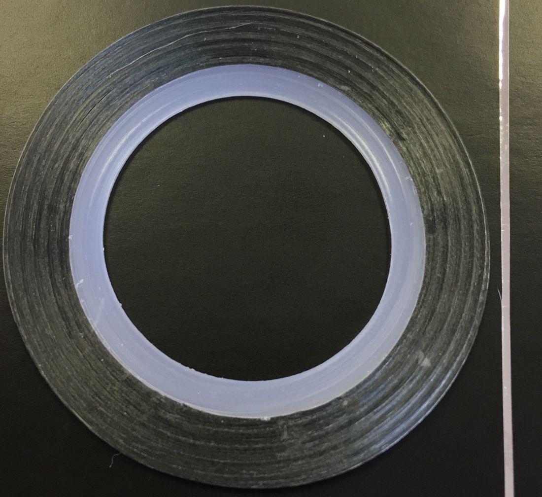 Наклейка-лента для дизайна ногтей в рулоне (0.8мм) глянцевая (серебро)