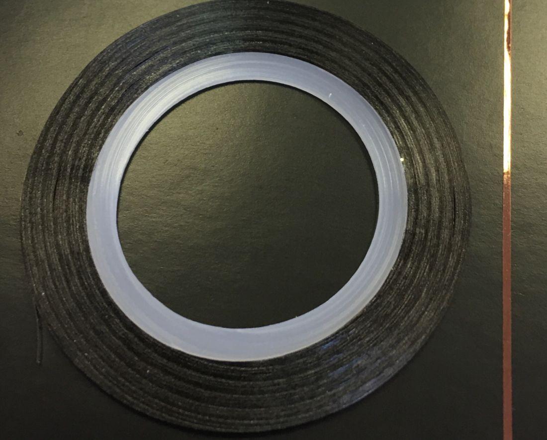 Наклейка-лента для дизайна ногтей в рулоне (0.8мм) глянцевая (шоколад)