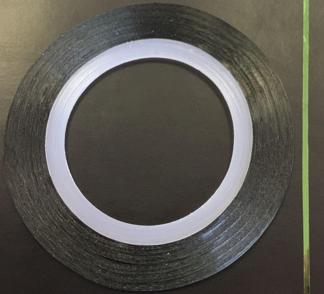 Наклейка-лента для дизайна ногтей в рулоне (0.8мм) глянцевая (зеленый)
