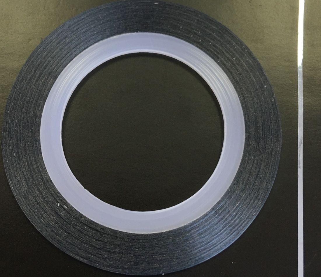 Наклейка-лента для дизайна ногтей в рулоне (0.8мм) глянцевая (небесный)