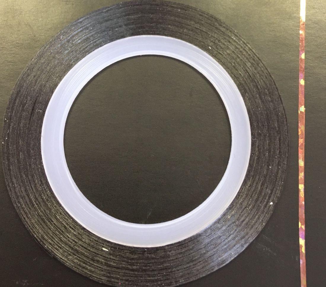 Наклейка-лента для дизайна ногтей в рулоне (0.8мм) голограмма (шоколад)