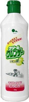 Японский чистящий крем для кухни с абразивными частицами Mitsuei с ароматом лимона 400г
