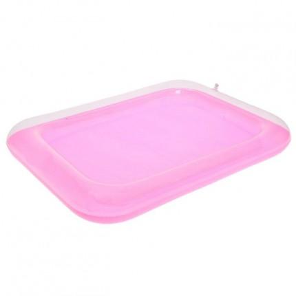 Надувная песочница для кинетического песка. (цвет розовый)