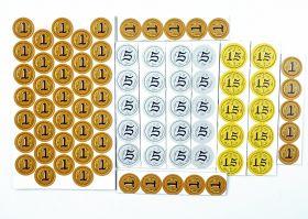 Набор картонных монет