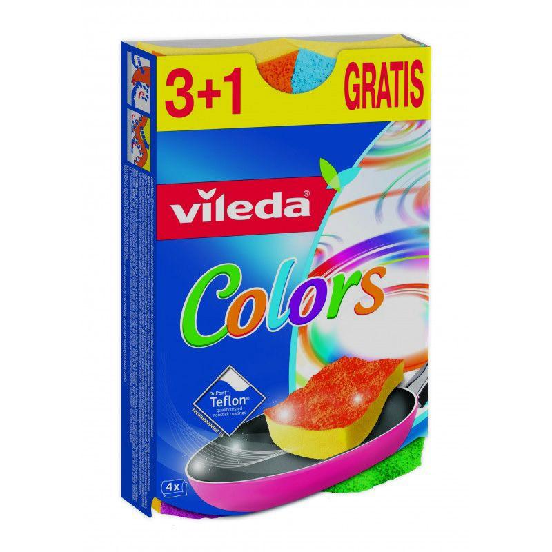 "Vileda губка  ""Pure Colors"", 3+1 шт"