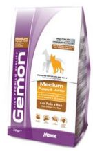 Gemon Dog Medium корм для щенков средних пород курицей с рисом  15 кг