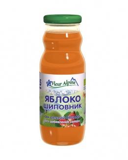 Флёр Альпин - сок Органик яблоко-шиповник, 5 мес., 200 мл