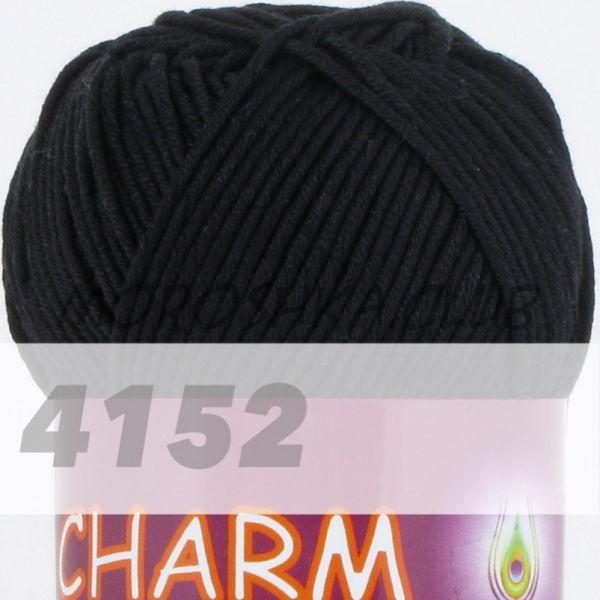 Чёрный Сharm VITA cotton (цвет 4152), упаковка 10 мотков