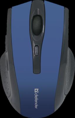 Беспроводная оптическая мышь Accura MM-665 синий,6 кнопок, 800-1600 dpi