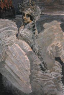 Царевна-Лебедь (Репродукция Врубеля)