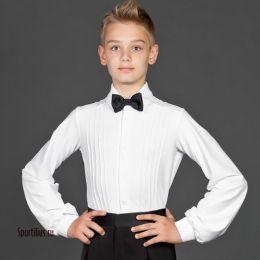 Рубашка для танцев белая, с защипами