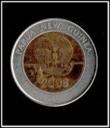Папуа Новая Гвинея 2 кина 2008 Биметалл 35 лет Национального банка