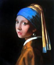 Девушка с жемчужной сережкой (Репродукция Вермеера)