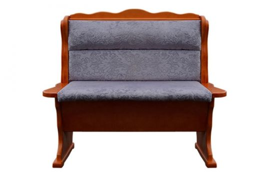 Прямой диван Шерлок с резьбой
