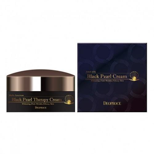 Корейский крем для лица с черным жемчугом антивозрастной DEOPROCE BLACK PEARL THERAPY CREAM