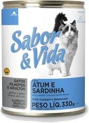 Sabor & Vida консервированный корм для кошек Тунец/сардины 290г