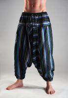 Полосатые индийские штаны афгани (алладины) для мужчин и женщин, Москва