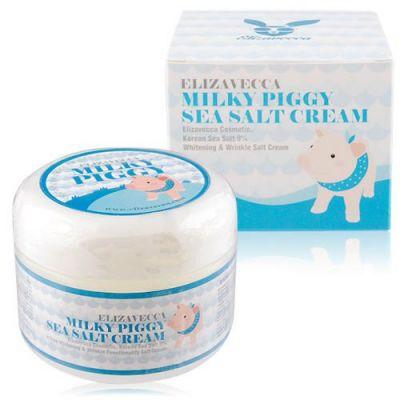 Корейский крем увлажняющий ELIZAVECCA Milky Piggy Sea Salt Cream