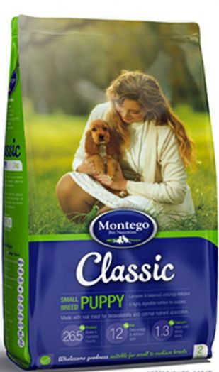 MONTEGO Classic для щенков мелких пород 25 кг