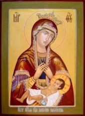 Умиление Смоленская (рукописная икона)