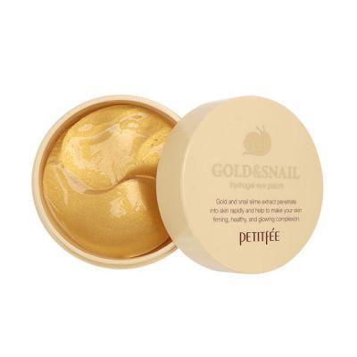 Корейские патчи для глаз гидрогелевые с золотом и экстрактом улитки PETITFEE Gold & Snail Eye Patch