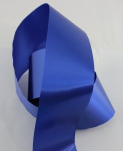 `Лента САТИН, ширина 65 мм, цвет синий