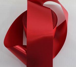 `Лента САТИН, ширина 65 мм, цвет красный