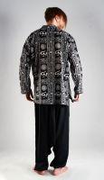 Чёрные мужские индийские рубашки недорого, хлопок, интернет-магазин Москва