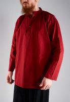 бордовая недорогая мужская рубашка из хлопка, купить в Москве