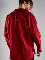 бордовая недорогая мужская рубашка из хлопка, интернет-магазин, Москва