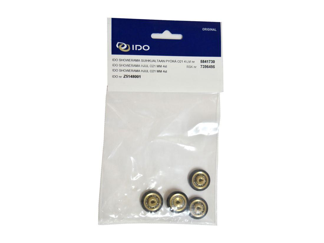 Комплект роликов (4 шт   21 мм) душевой кабины IDO Showerama Z5148001