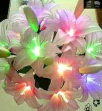 Гирлянда феерверк - 11 светодиодов - цветной мигающий