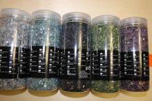 Цветное стекло - наполнитель для вазы