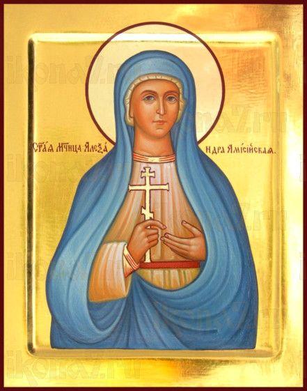 Александра Понтийская (рукописная икона)