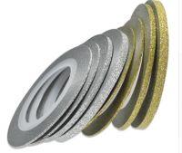 Декоративная самоклеющаяся лента (1 мм) Цвет: блестящее серебро