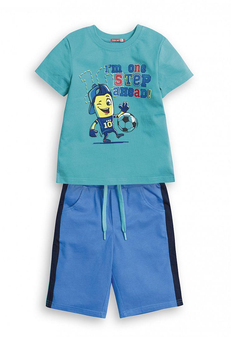 Комплект из футболки и шорт для мальчика 4 лет