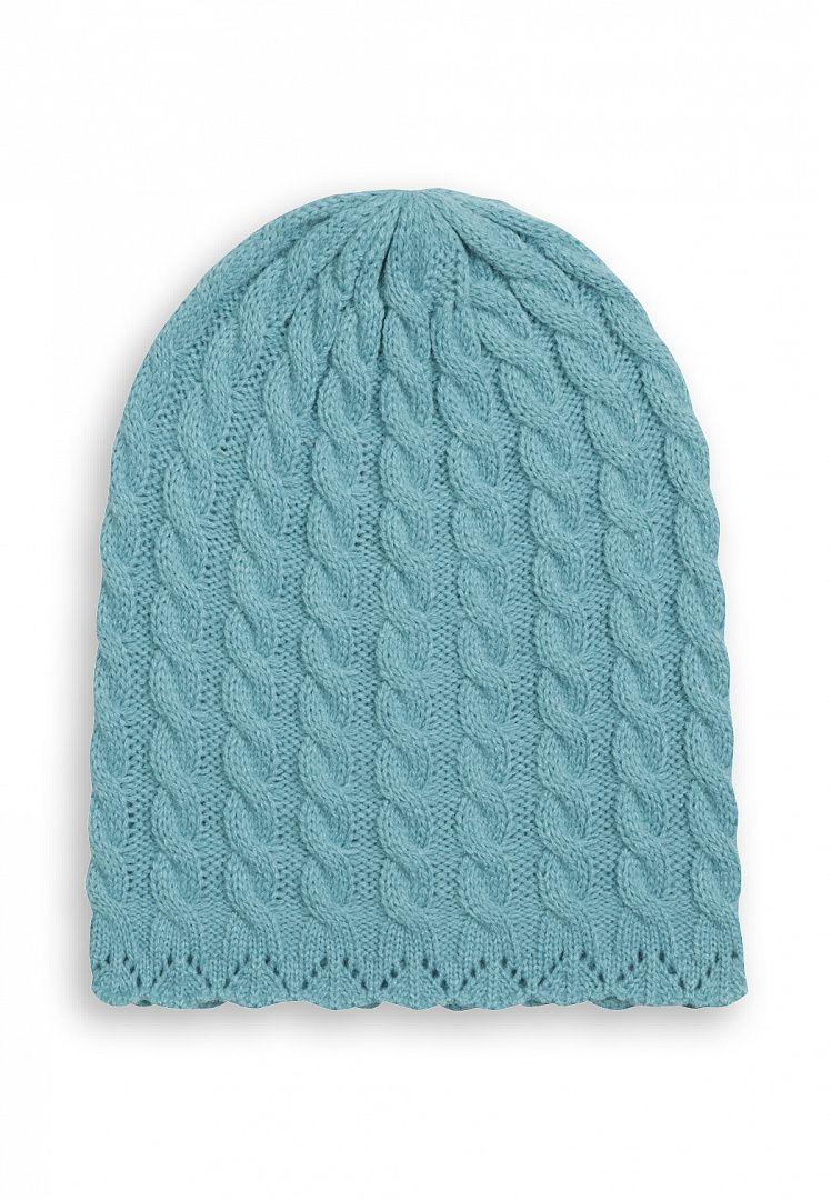 Бирюзовая шапка для девочки 6-7 лет