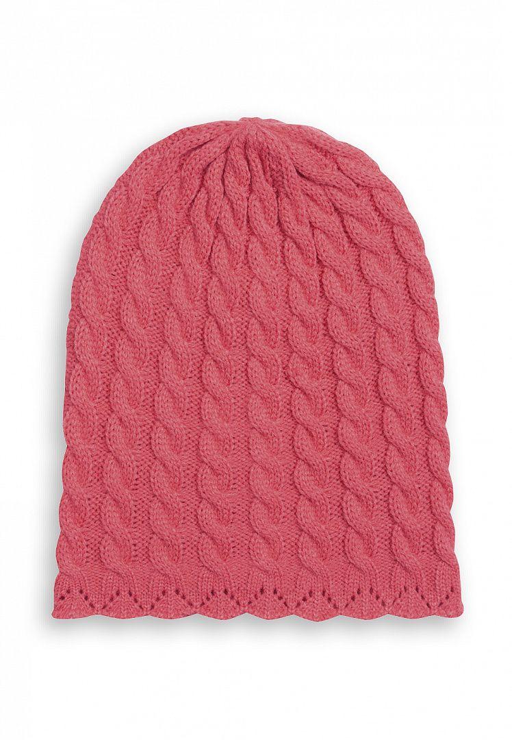 Вязаная шапка для девочки 6-7 лет